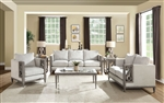 Artesia 2 Piece Sofa Set in Fabric & Salvaged Natural Finish by Acme - 56090-S