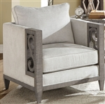 Artesia Chair in Fabric & Salvaged Natural Finish by Acme - 56092