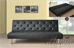Franasco Black Bycast Adjustable Sofa Bed by Acme - 57006