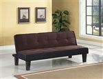 Hamar Adjustable Sofa in Chocolate Flannel Fabric Finish by Acme - 57028