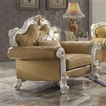 Picardy Chair in Butterscotch PU & Antique Pearl Finish by Acme - 58212