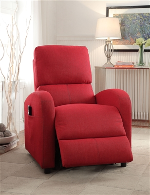 Croria Recliner w/Power Lift in Red Fabric Finish by Acme - 59345