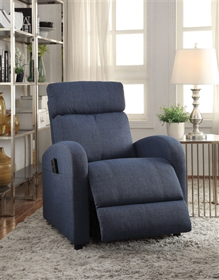 Concha Recliner w/Power Lift in Blue Fabric Finish by Acme - 59347