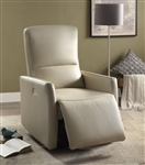 Raff Power Motion Recliner in Beige Leather-Aire Finish by Acme - 59408