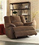 Oliver Glider Recliner in Chocolate Corduroy Finish by Acme - 59415