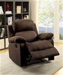 Parklon Recliner in Chocolate Microfiber Finish by Acme - 59478