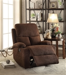 Rosia Recliner in Chocolate Velvet Finish by Acme - 59547