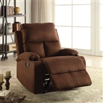 Rosia Recliner in Chocolate Microfiber Finish by Acme - 59553