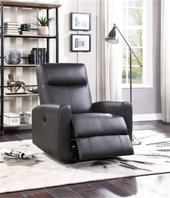 Blane Power Motion Recliner in Brown Top Grain Leather Match Finish by Acme - 59773