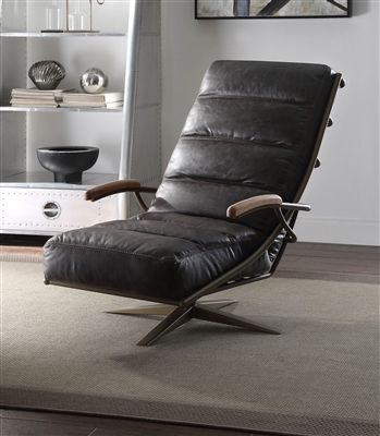 Ekin Accent Chair in Morocco Top Grain Leather Finish by Acme - 59834