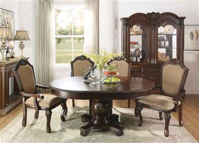 Chateau De Ville 5 Piece Round Table Dining Room Set in Espresso Finish by Acme - 64175