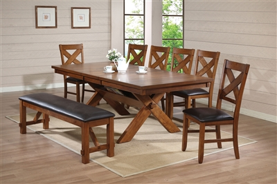 Apollo 7 Piece Dining Room Set in Walnut Finish by Acme - 70000