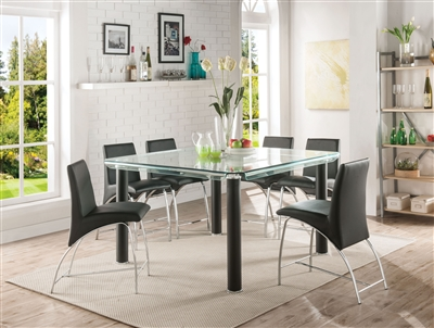 Gordie 7 Piece Counter Height Dining Set in Black Finish by Acme - 70255-70258