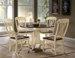 Dylan 5 Piece Round Table Dining Room Set in Buttermilk & Oak Finish by Acme - 70330