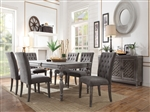 Godeleine 7 Piece Dining Room Set in Weathered Gray Oak Finish by Acme - 70415
