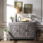 Godeleine Server in Weathered Gray Oak Finish by Acme - 70418