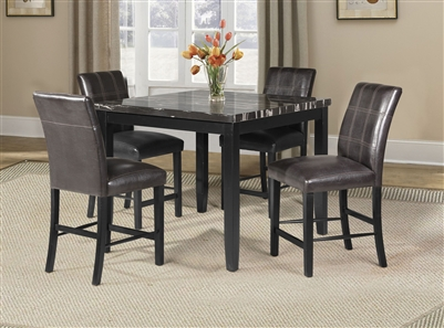 Blythe 5 Piece Counter Height Dining Set in Black Finish by Acme - 71070