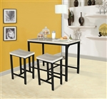 Mira 3 Piece Counter Height Dining Set in Black Finish by Acme - 71560