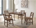 Gervais 5 Piece Dining Room Set in Walnut Finish by Acme - 71820