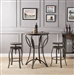 3 Piece Gravino Bar Table Set in Walnut & Sandy Black Finish by Acme - 71940