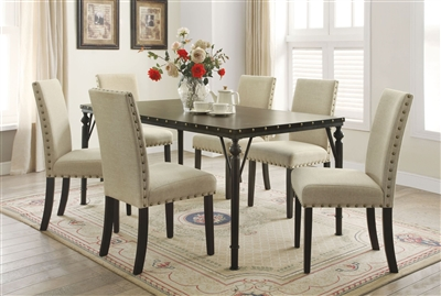 Hadas 7 Piece Dining Room Set in Walnut Finish by Acme - 72050