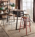 5 Piece Scarus Bar Table Set with Gunmetal Bar Stool by Acme - 72385-72389