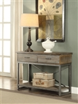 Lazarus Server in Weathered Oak & Antique Silver Finish by Acme - 73113