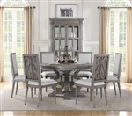 Artesia 5 Piece Round Table Dining Room Set in Salvaged Natural Finish by Acme - 77085
