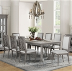 Artesia 7 Piece Dining Room Set in Salvaged Natural Finish by Acme - 77090