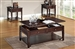 Malachi 3 Piece Occasional Table Set in Walnut Finish by Acme - 80254-S