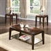 Docila 3 Piece Occasional Table Set in Walnut Finish by Acme - 80655-S