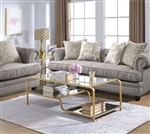 Astrid 3 Piece Occasional Table Set in Gold & Mirror Finish by Acme - 81090-S