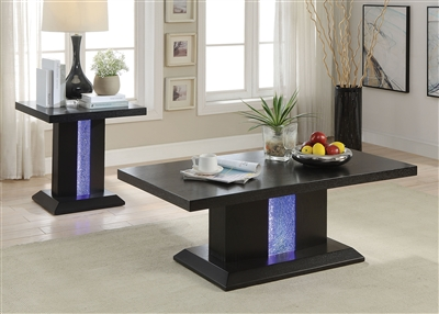 Bernice 3 Piece Occasional Table Set in Black Finish by Acme - 81650-S