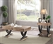 Pellio 3 Piece Occasional Table Set in Antique Oak & Black Finish by Acme - 83055-S