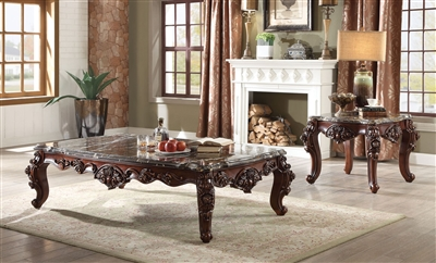 Forsythia 3 Piece Occasional Table Set in Walnut Finish by Acme - 83070-S
