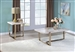 Feit 3 Piece Occasional Table Set in Faux Marble & Champagne Finish by Acme - 83105-S