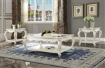Picardy 3 Piece Occasional Table Set in Antique Pearl Finish by Acme - 83460-S