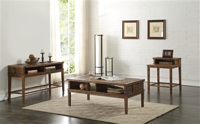 Andria 3 Piece Occasional Table Set in Reclaimed Oak Finish by Acme - 83660-S