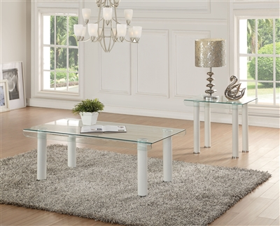 Gordie 3 Piece Occasional Table Set in White Finish by Acme - 83680-S