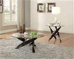 Hagelin 3 Piece Occasional Table Set in Black & Chrome Finish by Acme - 84530-S