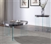 Noland 3 Piece Occasional Table Set in Gray High Gloss & Clear Glass Finish by Acme - 84915-S