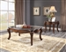 Miyeon 3 Piece Occasional Table Set in Marble Top & Cherry Finish by Acme - 85365-S