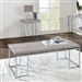 Chafik 3 Piece Occasional Table Set in Natural Oak & Chrome Finish by Acme - 85370-S