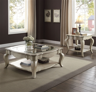 Chelmsford 3 Piece Occasional Table Set in Antique Taupe Finish by Acme - 86050-S