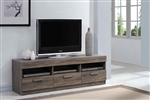 Alvin 59 Inch TV Console in Rustic Oak Finish by Acme - 91167