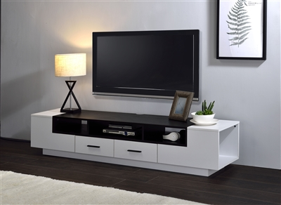 Armour 70 Inch TV Console in White & Black Finish by Acme - 91275