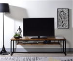 Jurgen 67 Inch TV Console in Oak & Black Finish by Acme - 91375