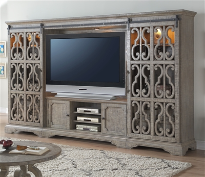 Artesia Entertainment Center in Salvaged Natural Finish by Acme - 91760