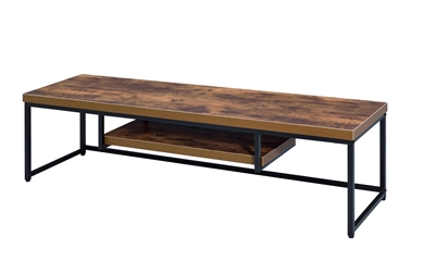 Bob 59 Inch TV Console in Weathered Oak & Black Finish by Acme - 91782