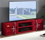 Cargo 73 Inch TV Console in Red Finish by Acme - 91895